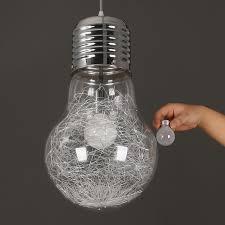 Hanging Light Bulb Pendant with Mordern Big Bulb Pendant Light Creative Personality Hanging Lamp