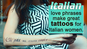 italian tattoos for girls