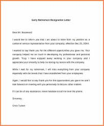 8 retiring letter of resignation resign letter job