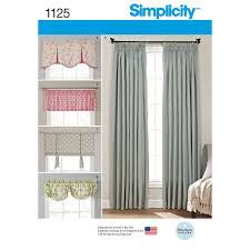 sewing patterns home decor simplicity curtain valance patterns integralbook com