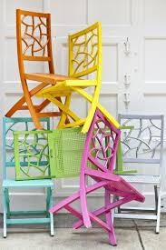 love these colorful patio chairs by annabelle collections of