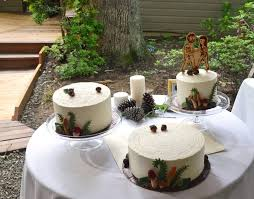 woodland wedding cake trio cakecentral com