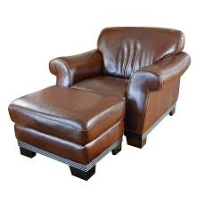 Leather Chair With Ottoman Contemporary Italian Leather Club Chair And Ottoman By Divani Ebth