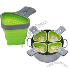 Pasta Basket Collapsible Silicone Pasta Basket Noodle Strainer Silicone