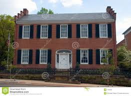 federal style home federal style home stock image image of estate iron remodel 770013