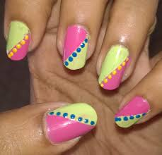 pink and parrot green nail art tutorial for beginners zooryas