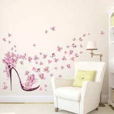 div id living room wall stickers creative butterfly flower fairy free shipping standard delivery