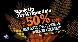 playstation network is a stock up for winter sale