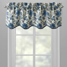 waverly blue felicity floral window valances set of 2