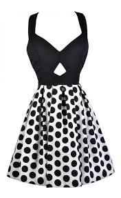 black and ivory polka dot dress black and ivory bow back dress