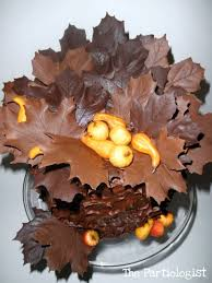How To Make Decorative Chocolate The Partiologist Chocolate Maple Leaf Cake