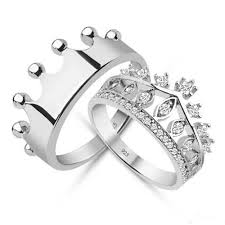 diamond king rings images King queencrown ringcrown ring setgold crown by uniquenewline jpg