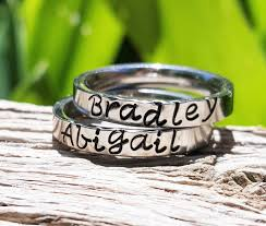 personalized stackable rings stackable name rings stacking rings personalized stacking