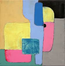 geometric painting minimalist painting abstract painting small