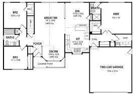 one home floor plans attractive one level home plan 19506jf architectural designs