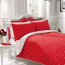Red And Cream Duvet Cover Polka Dot Red White King Size Duvet Cover 3pcs Set For