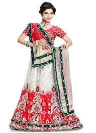 red white net wedding lehenga choli bridal wear lehenga choli