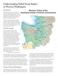 Map Of Northwest Us Treaties Northwest Indian Fisheries Commission
