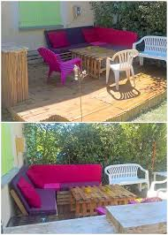 Patio Furniture With Pallets - transform old shipping pallets into creative home furnishings