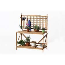 Patio Tools Patio Wise Folding Large Potting U0026 Gardening Table Fir Wood