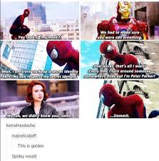 Make A Spiderman Meme - spiderman blows his cover marvel cinematic universe know your meme