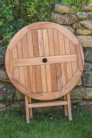 teak folding table 80cm garden furniture land