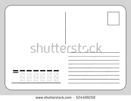 vector template reverse side postcard postcode stock vector