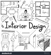 interior design building blueprint profession education stock