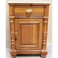 fresh simple vintage marble top nightstand 12952