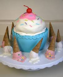 birthday cakes for the birthday ice cream cones cake