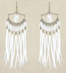 Chandelier Beaded Earrings White Bead 171 Best Earrings Images On Pinterest Dangles Feather And Feathers