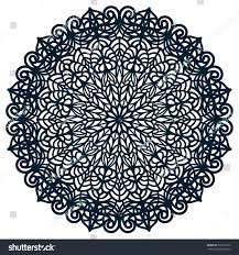 laser cutting template doily ornament cut stock vector 523295572
