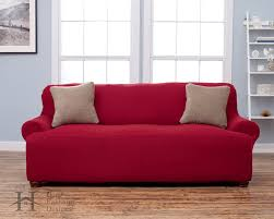 2 Piece T Cushion Sofa Slipcover by Amazon Com Lucia Collection Basic Strapless Slipcover Form Fit