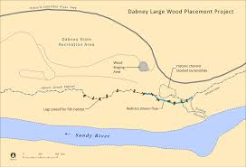 Portland Oregon On Map by Dabney Large Wood Placement Project Engineered Logjams The