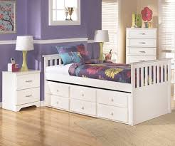 Trundle Bed For Girls Lulu B102 Twin Size Captain U0027s Trundle Bed Ashley Kids Furniture