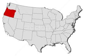 map of oregon united states map of the united states oregon highlighted vector illustration