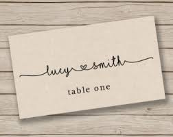 Table Card Template by Wedding Place Cards Etsy