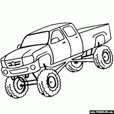 monster trucks online coloring pages page 1 with regard to