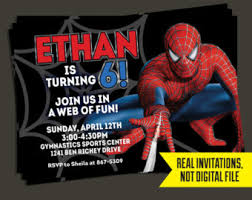 spider man birthday invitation spider man invitation