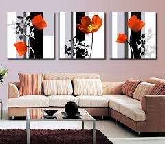 popular paint contemporary art buy cheap paint contemporary art modern art high quality 3 panel flower painting contemporary floral canvas painting paint by number for