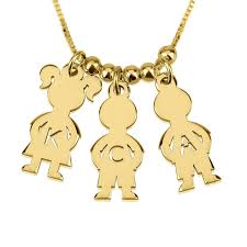 mothers necklace 24k gold plated s necklace boy and girl free shipping