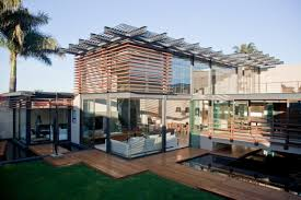 contemporary two storeys home design ideas with fresh green roof