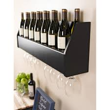 Wood Shelving Brackets by White Wooden Shelving Unit With Chrome Metal Wire Glass Wine