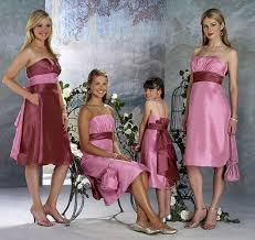 bridesmaid dress with different color sashes the wedding