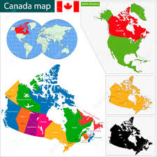 map of the provinces of canada colorful canada map with provinces and capital cities royalty free