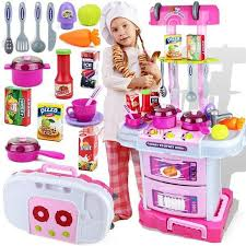 3 In 1 Kitchen by Little Chef Small Gourmet 3in1 Kitchen Play Toy Set Toyloco Co Uk