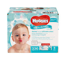 huggies one u0026 done baby wipes cucumber u0026 green tea 6 packs of 56