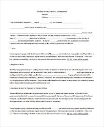 rental agreement for house templates radiodigital co
