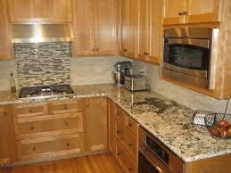 back splash tile ideas natural light brown wooden counter white