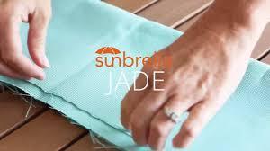 review of sunbrella jade upholstery fabric youtube